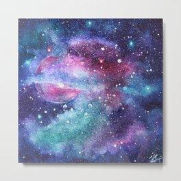 Watercolor Cosmos stars Metal Print