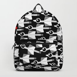Migration Black and White Bird Pattern Backpack