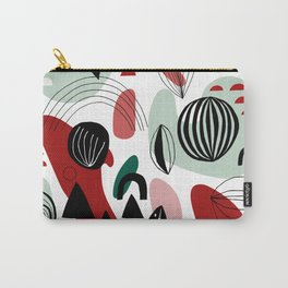 Abstract Shapes Pattern Carry-All Pouch