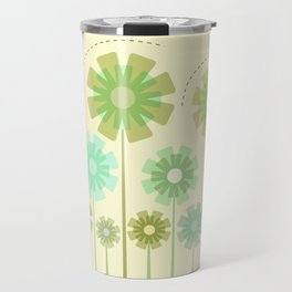Blooming Flowers and Honey Bees Travel Mug