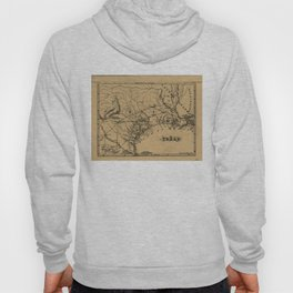 Vintage Map of Texas (1838) Hoody