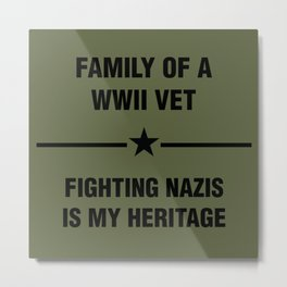 WWII Family Heritage Metal Print