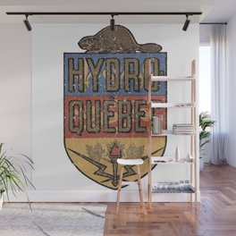 Electric Compagny In Quebec Old Logo Wall Mural