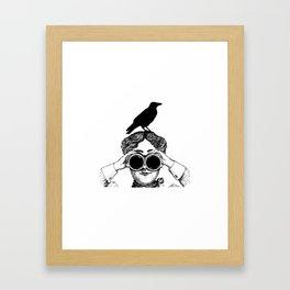 Where's that bird?! - humor Framed Art Print