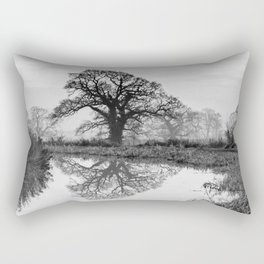 Reflection in the Bend Rectangular Pillow