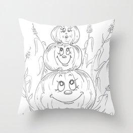 Pumpkin Totem Throw Pillow