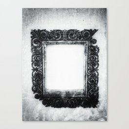 | a frame of nothing - or the mirroring of unborn thoughts | Canvas Print
