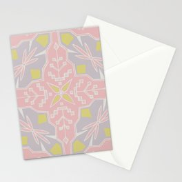 Tribal Square Stationery Cards