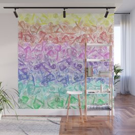 Crystal Gemstone Background Pattern - Geodes + Quartz Points Wall Mural