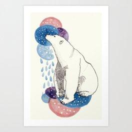 Contemplative Bear Art Print
