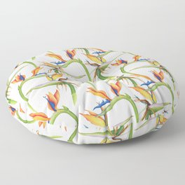 Birds Of Paradise Floor Pillow