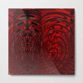 Black & red flow Metal Print