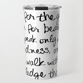 Audrey Hepburn Quote Travel Mug