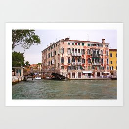 Venice seen from a boat. Art Print