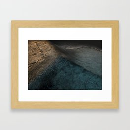 Concrete Wave Framed Art Print