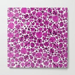Barca Dots Pattern pink Metal Print