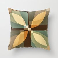 clover Throw Pillows featuring clover by Julia Tomova
