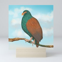 The Tooth-billed Pigeon (Little DODO) up on a Branch Mini Art Print