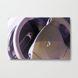 Chery QQ Electric Steering Wheel Metal Print