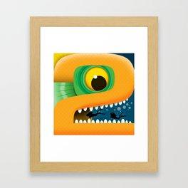Number 02 Framed Art Print