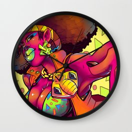 """Matangi"" by Kailyn Boehm Wall Clock"