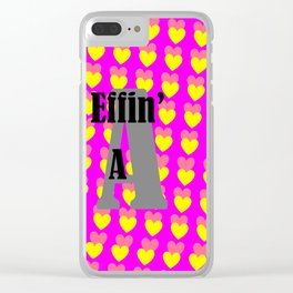 Pop Art Valentine Clear iPhone Case