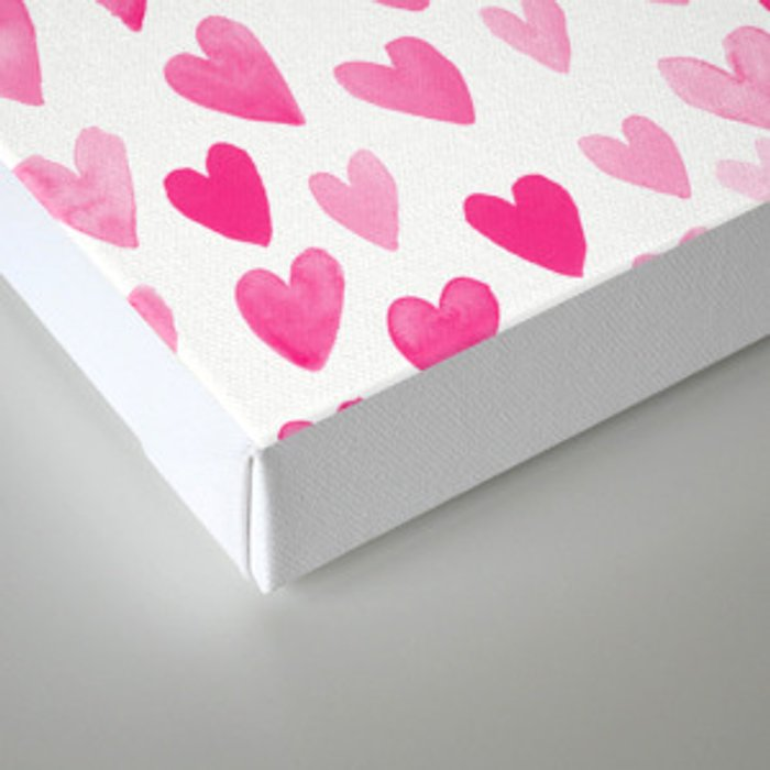 Hearts Pattern watercolor pink heart perfect essential valentines day gift idea for her Canvas Print