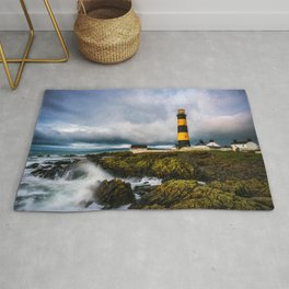 St. John's Point Lighthouse - Print  County Down, Northern Ireland.(RR 265) Rug