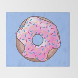 Pink Strawberry Donut Throw Blanket