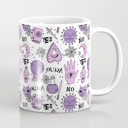 Ouija halloween potions crystal ball witch magic sorcerer pattern by andrea lauren Coffee Mug