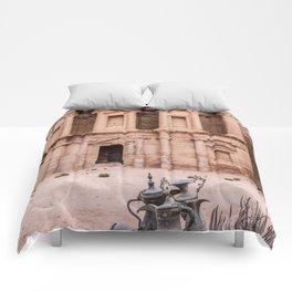 The Monastery at Petra Jordan Comforters