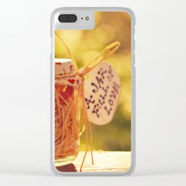 A Jar Full of Love Clear iPhone Case