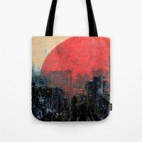 sunshine Tote Bags featuring Last Sunshine by Fernando Vieira