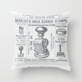 India rubber stamps Throw Pillow