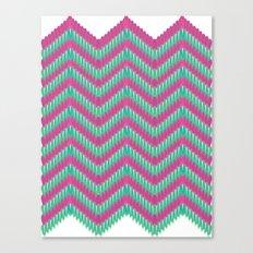 Hot Pink & Mint Canvas Print