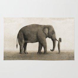 One Amazing Elephant - sepia option Rug