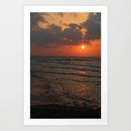 Orange Cream Sunset Art Print
