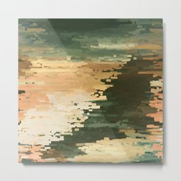 Contemporary Fine Art Abstract Sky and Ocean Metal Print