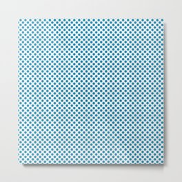 Blue Jewel Polka Dots Metal Print