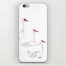 Queen's Swans iPhone Skin
