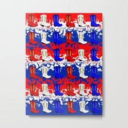 USA Cowboy Metal Print