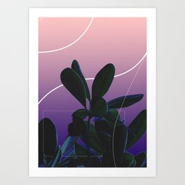 Pink & Purp Art Print