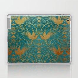 """""""Turquoise and Gold Paradise Birds"""" Laptop & iPad Skin"""