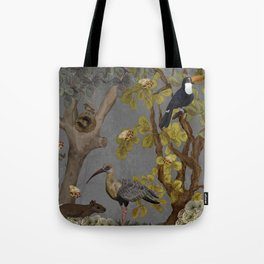 assembly of birds and one cute agouti Tote Bag