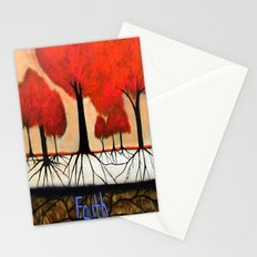 Roots--spiritual abstract painting by Saribelle Stationery Cards
