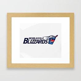 Nicholasville blizzards Full Logo Framed Art Print