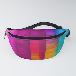 Vertical Rainbow Color Palette Fanny Pack