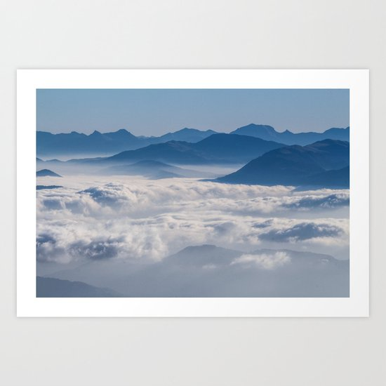 Follow me into the clouds #plane #air Art Print