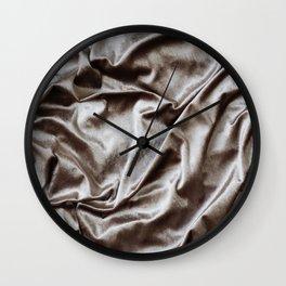 WOKE UP LIKE THIS - abstract luxury shiny texture, modern, monochrome Wall Clock