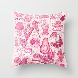 Millennial Witch Throw Pillow